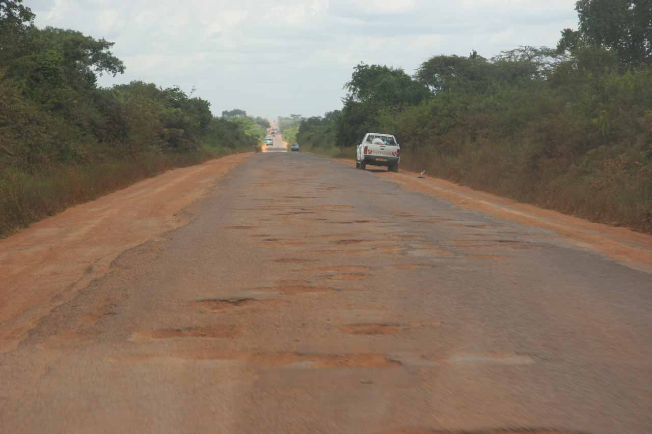 Here's a situation where the roads were so bad (potholes, ruts, and all) that it was wise to let a tour operator do the driving instead of trying to brave the roads of Uganda ourselves