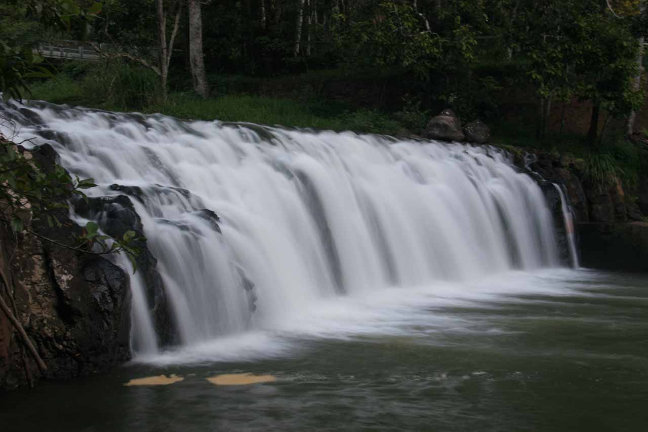 Here's Malanda Falls seen from an angle in long exposure