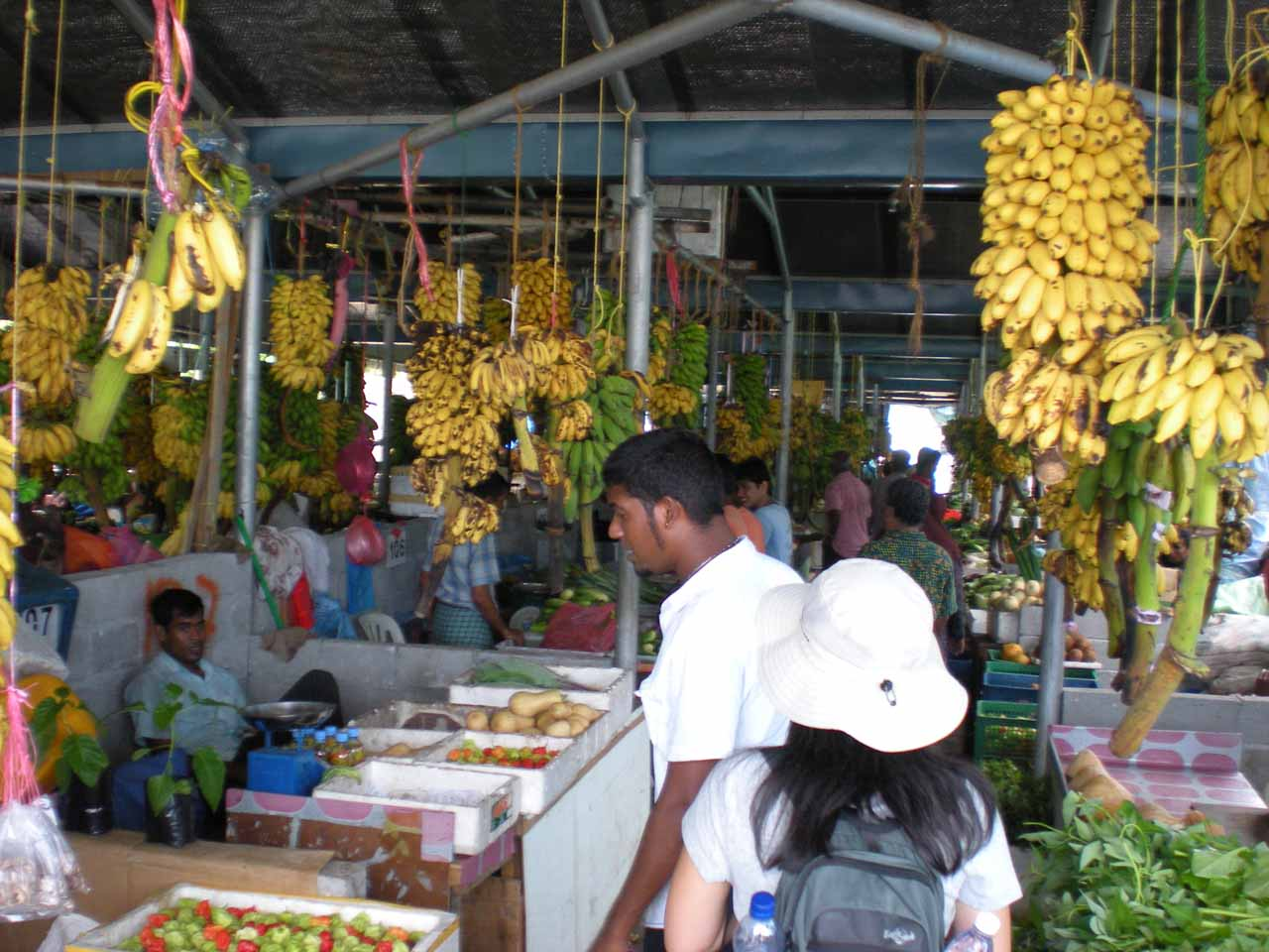 Inside the main marketplace of Male