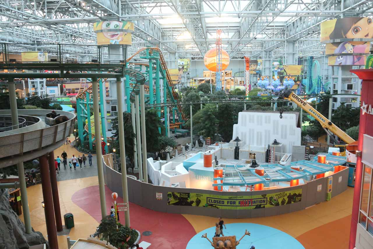 Checking out the impressive indoor amusement park at the Mall of America