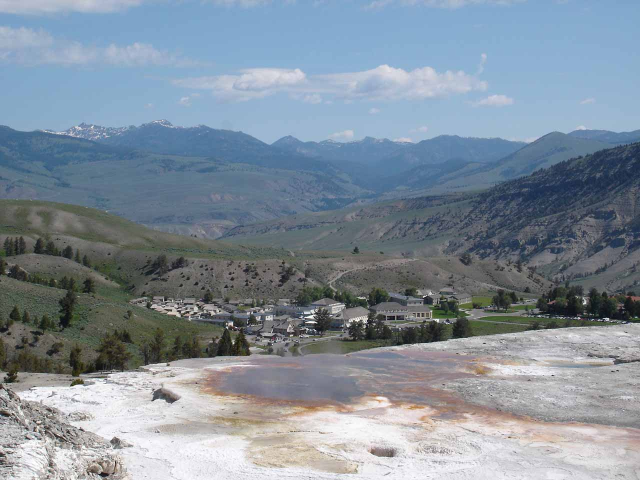 Big Sky was also not too far from the north entrance to Yellowstone National Park, where the Mammoth Hot Springs area was located