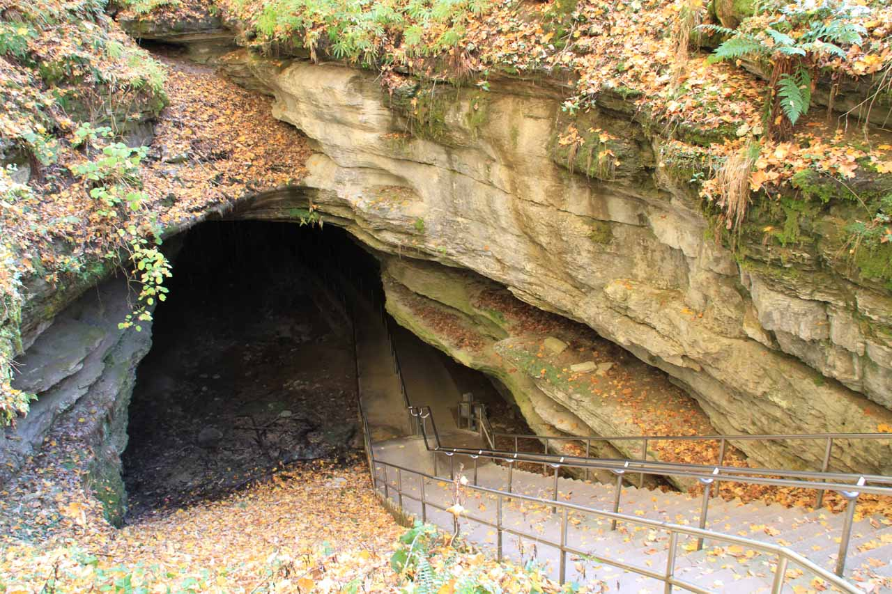 The historic entrance to Mammoth Cave