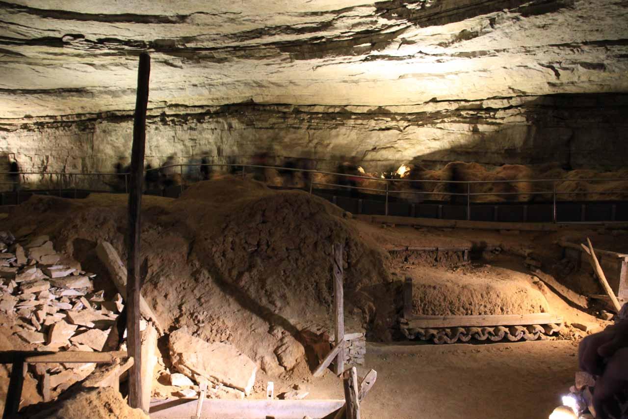 Saltpeter mining relics