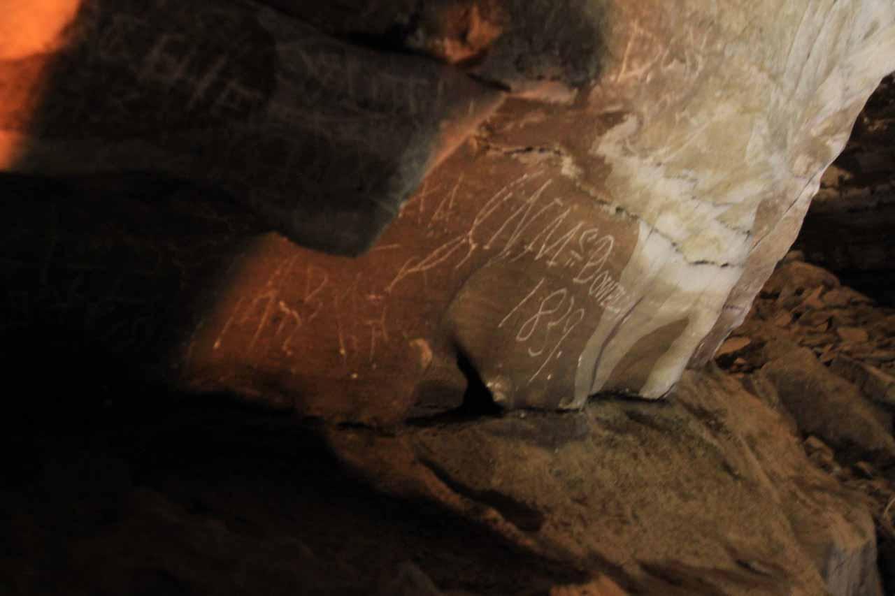 Graffiti from 1839