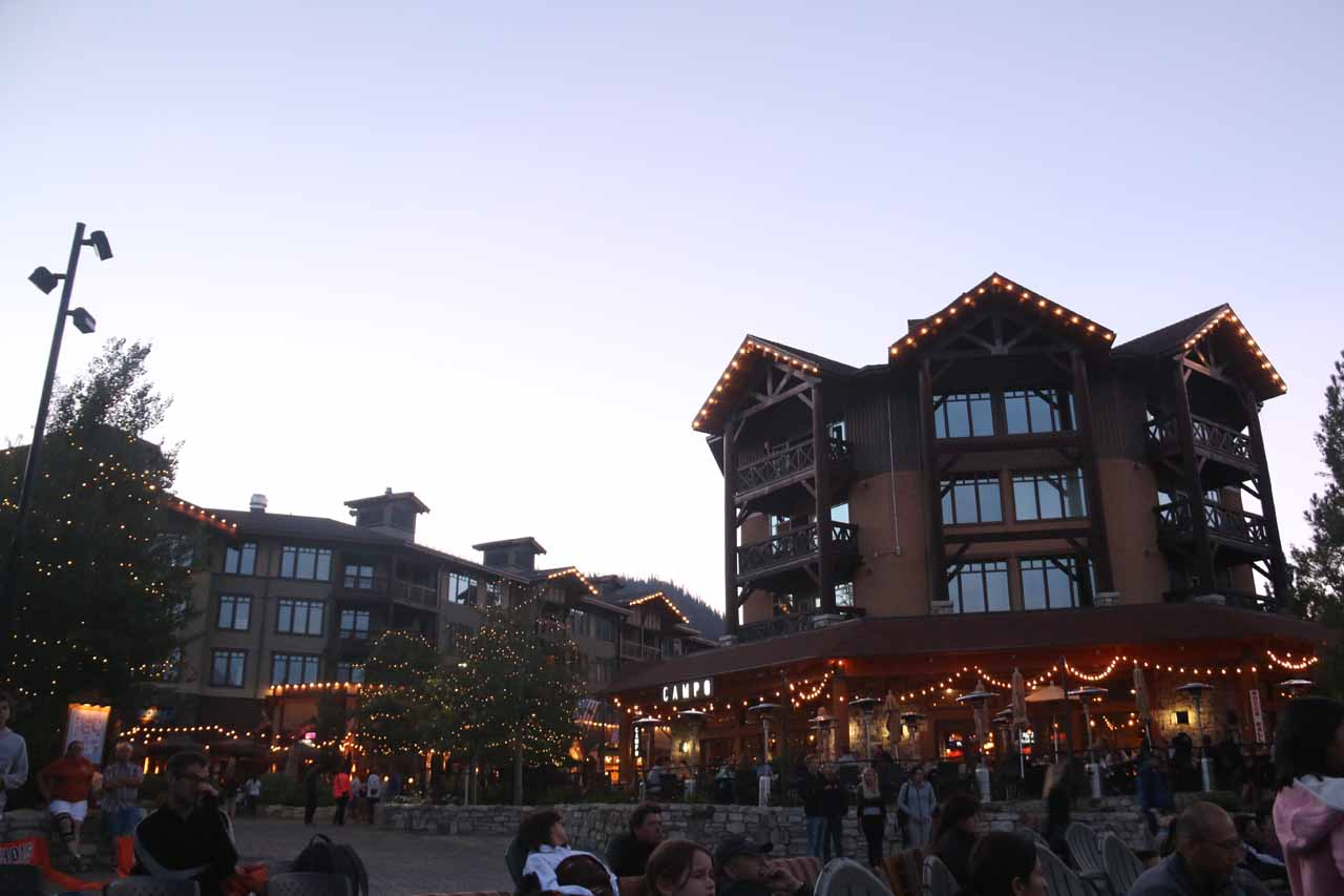 In the heart of Mammoth Village