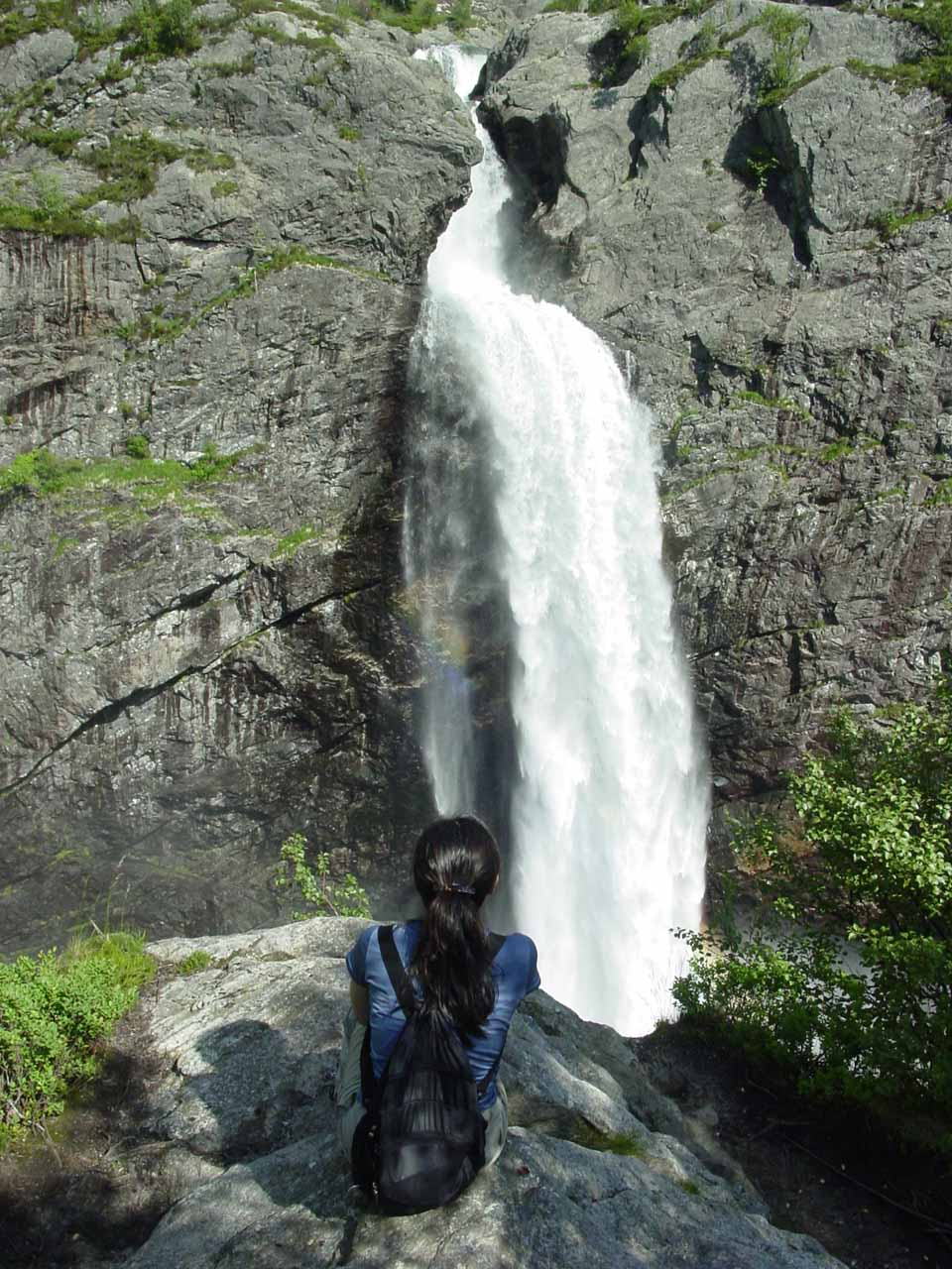After visiting Tengsfossen, we then headed to the beautiful Manafossen, which was probably our favorite waterfall of Rogaland County and one of our favorites in all of Norway