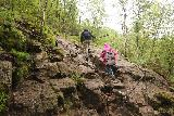 Manafossen_035_06202019 - Then, the Manafossen Trail featured chains to help with the even steeper and more slippery rocky parts during our June 2019 visit