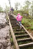 Manafossen_042_06202019 - Julie and Tahia going up more steep steps on the Manafossen Trail in June 2019 though I swore that most of these steps weren't there when we first came here in June 2005