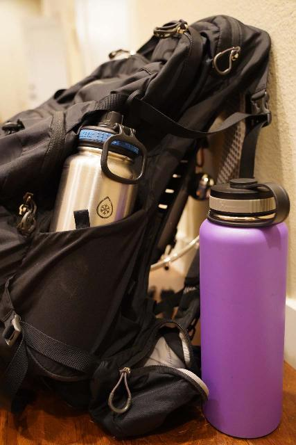 The Osprey Manta 34 Backpack's deep side pockets ensured that my stainless steel water bottles don't fall out