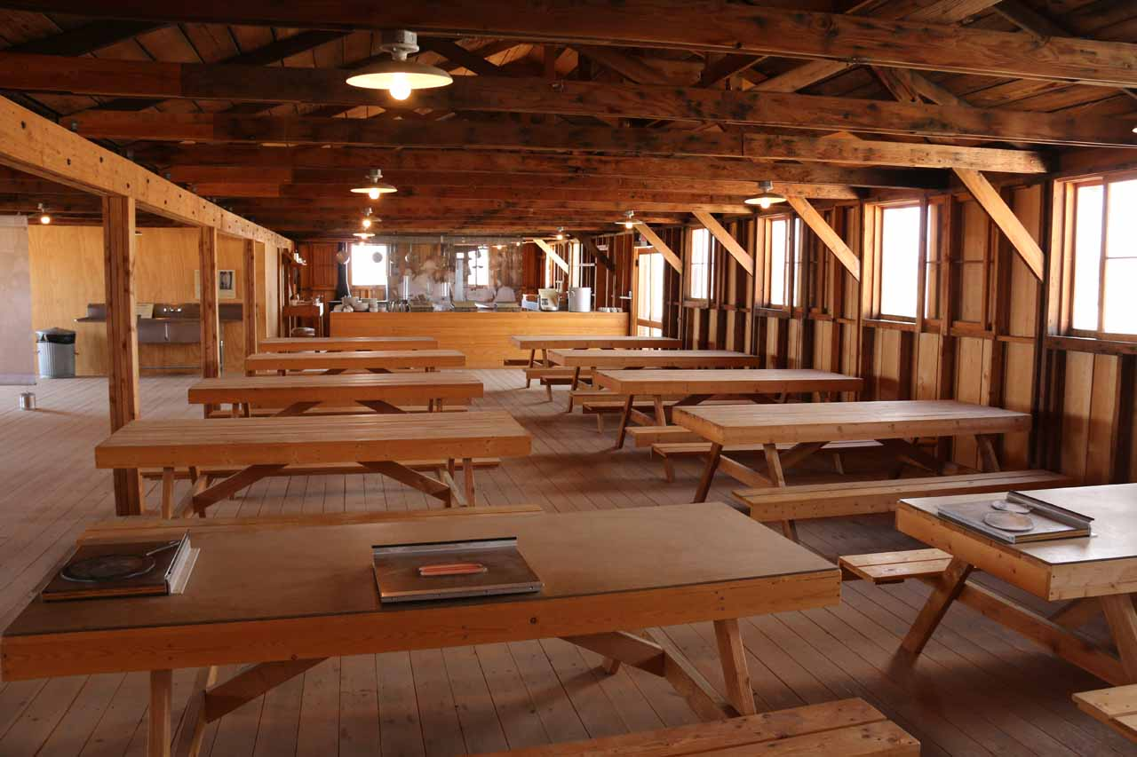 An impressive re-creation of the interior of the Mess Hall at Manzanar