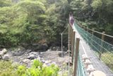 Maolin_Valey_Waterfall_106_10292016 - Crossing over a suspension bridge on the return hike. If you look closely, you might see people river tracing beneath the bridge