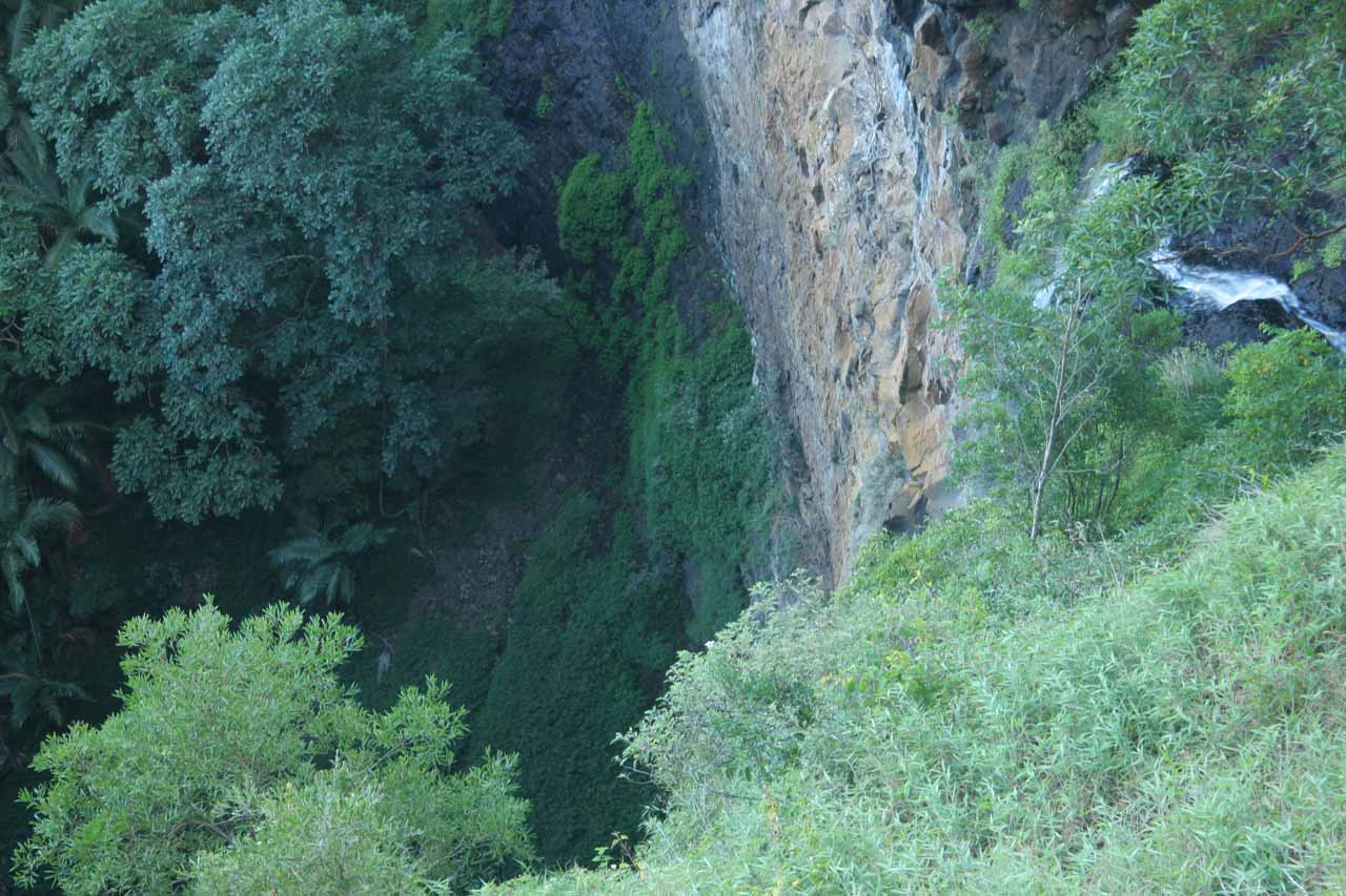 Disapointing view of Mapleton Falls