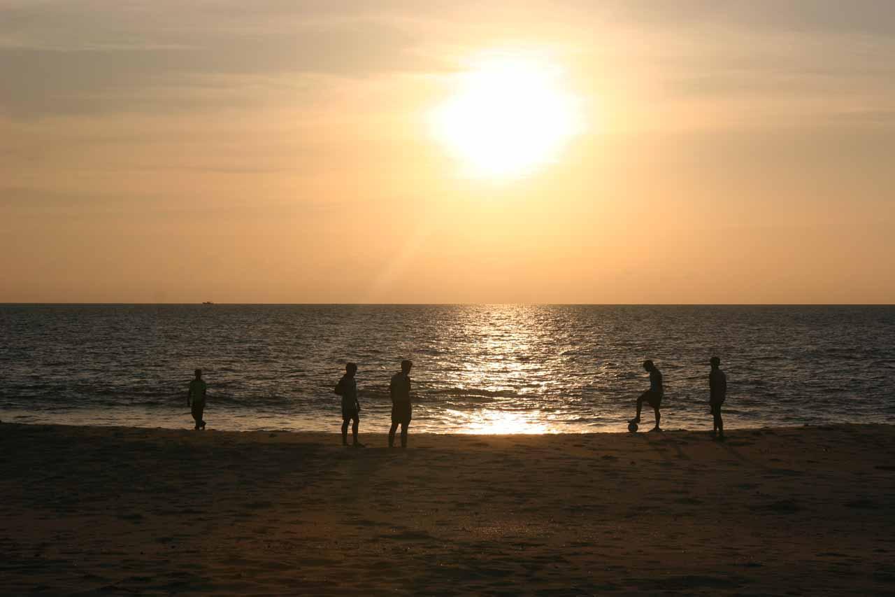 Keralan locals playing soccer