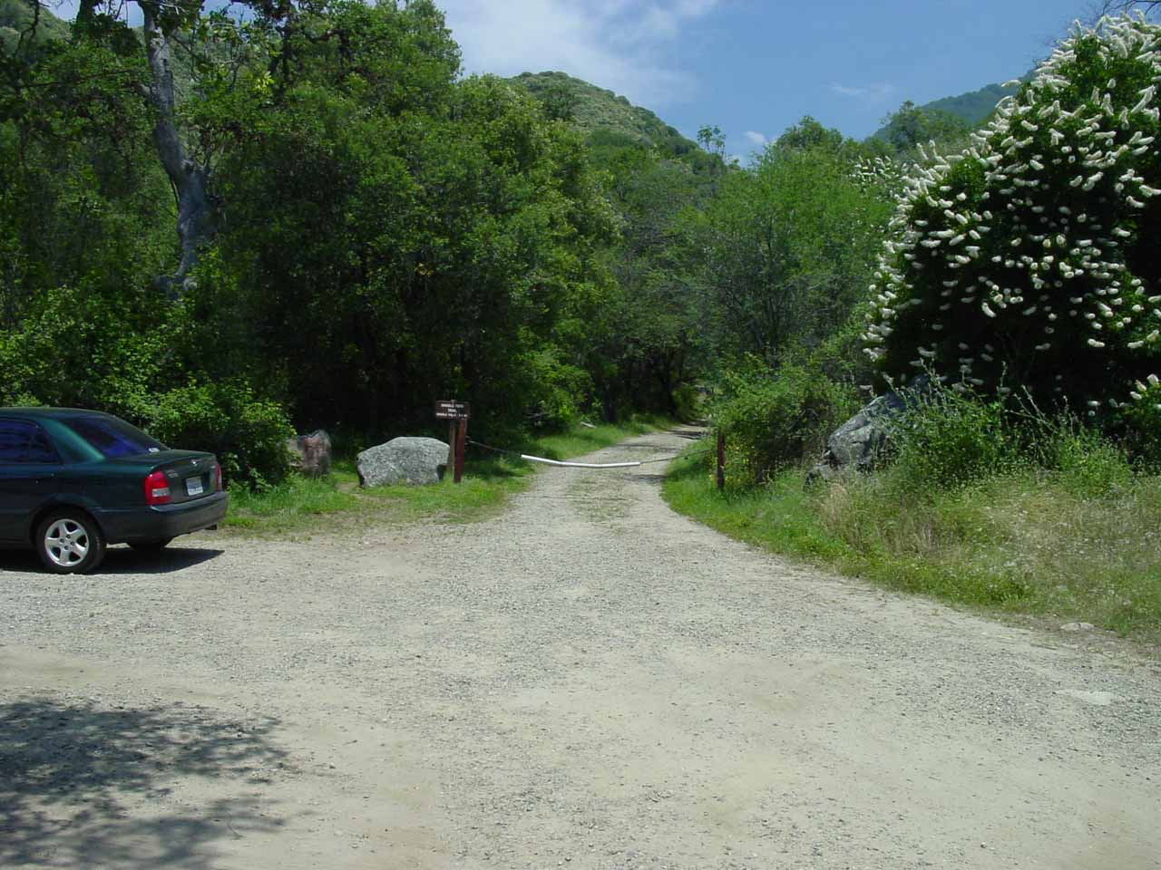 The trailhead next to campsite #16