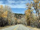 Marble_to_Aspen_008_iPhone_10182020 - Driving back north among more fading Fall colors as the leaves were coming off along the Hwy 133