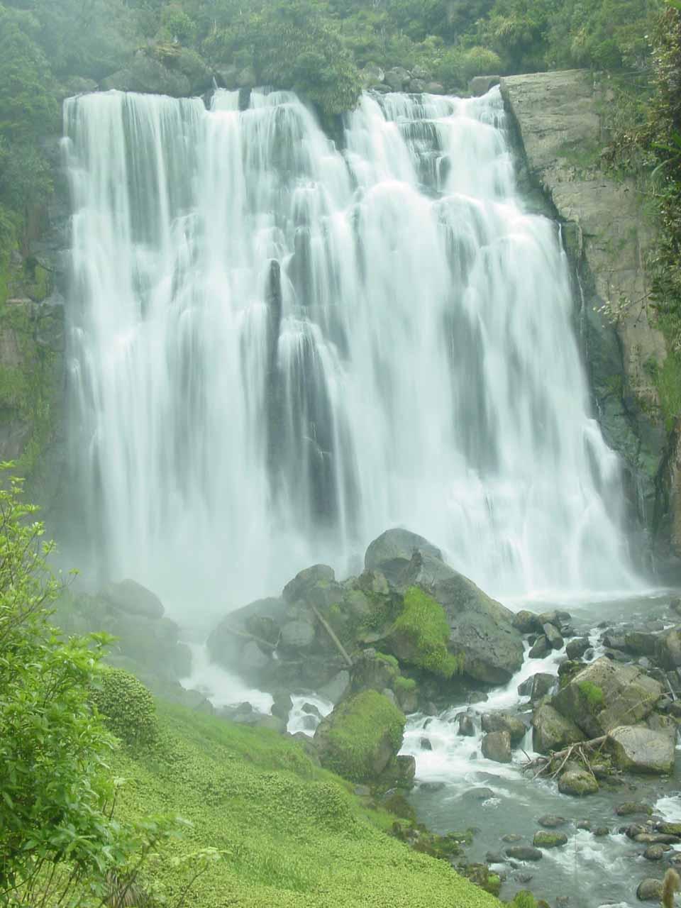 A closer examination of Marokopa Falls in long exposure seen in November 2004