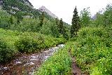 Maroon_Bells_143_07252020 - Hiking alongside Maroon Creek as part of the lower loop of the Maroon Lake Scenic Loop Trail