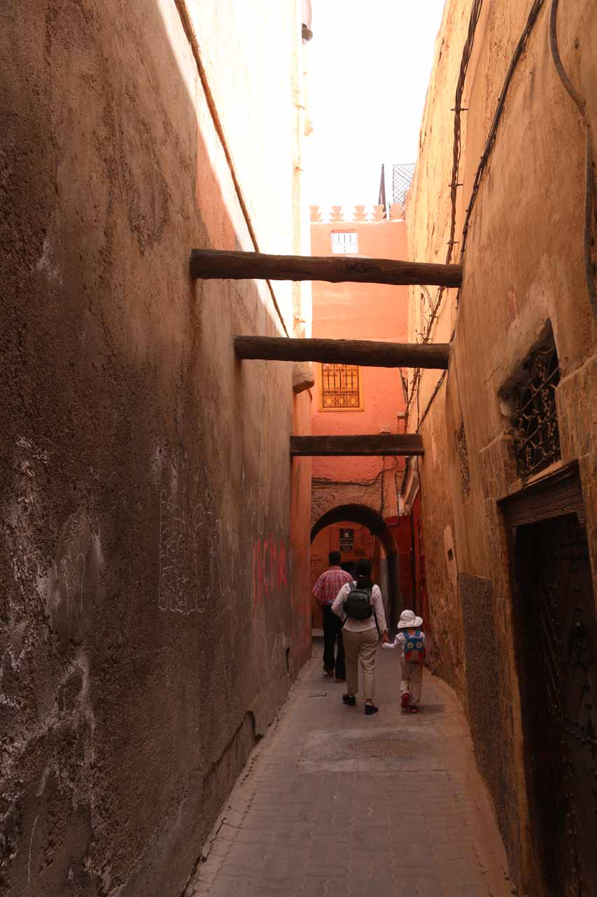 Yet even more alleyways to navigate through to reach our riad