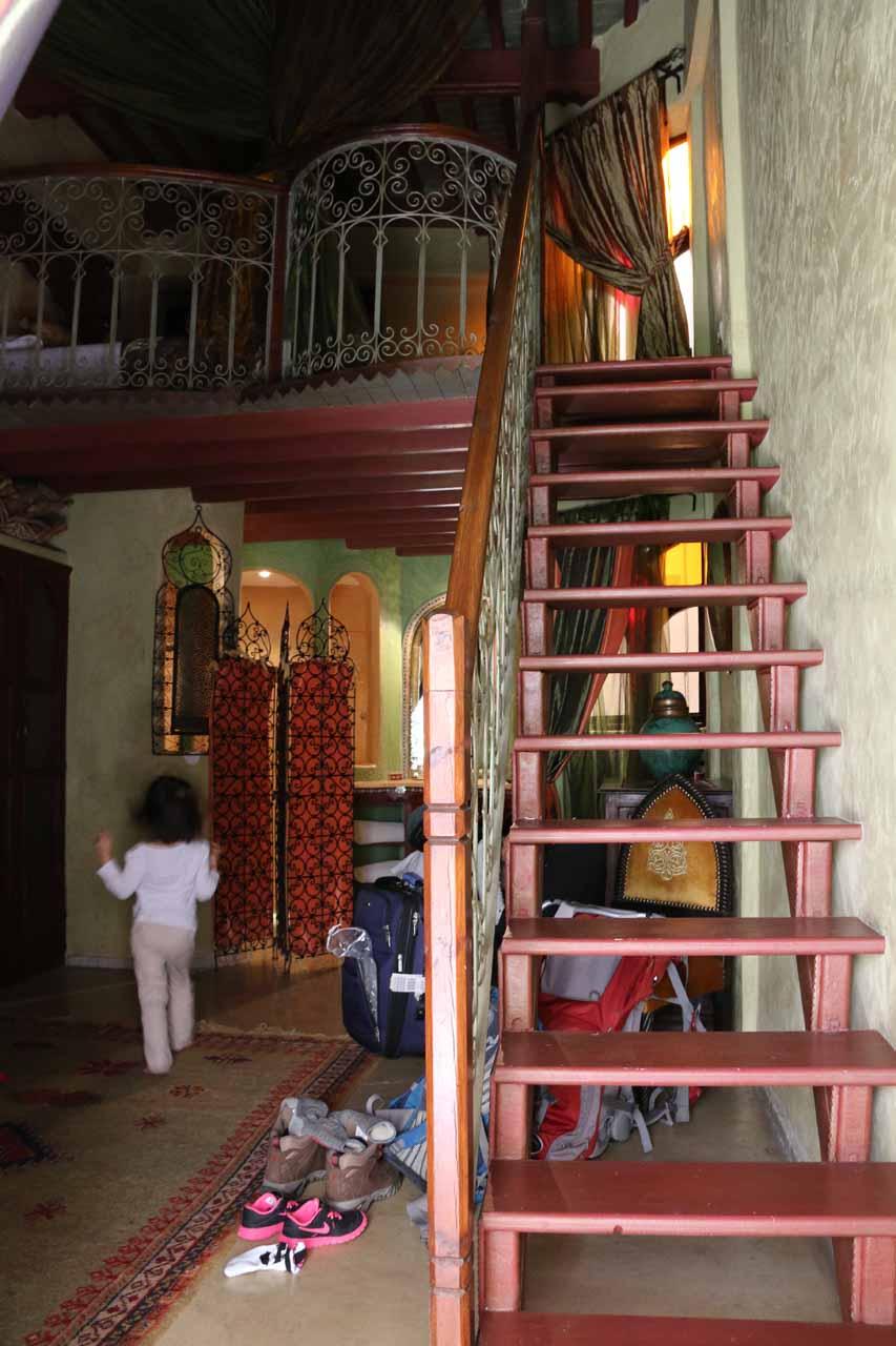 Our room at the Riad Lorsya