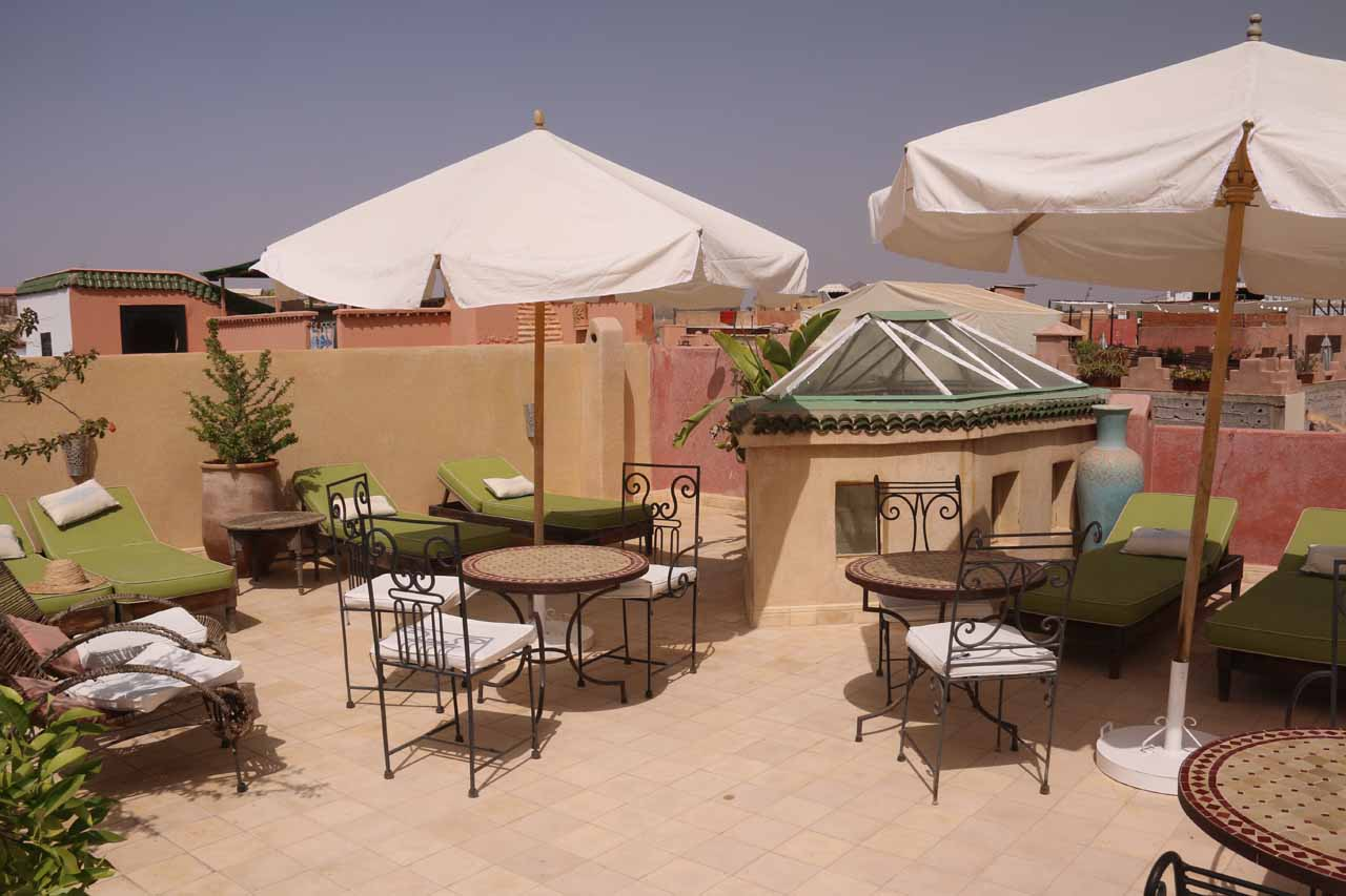 The rooftop of our riad