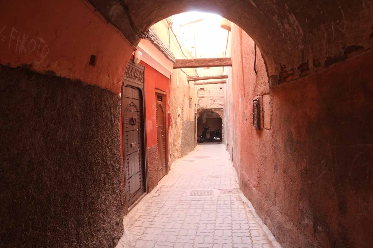 Now on our own as we walked out of the riad