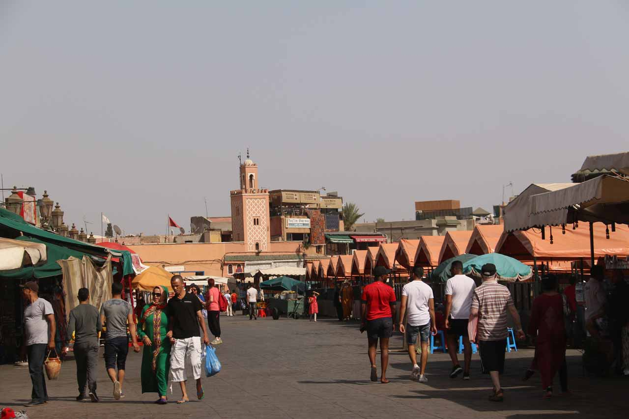 Entering the Djemaa el-Fna
