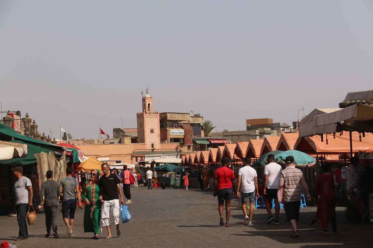 Entering the Djemaa el-Fna