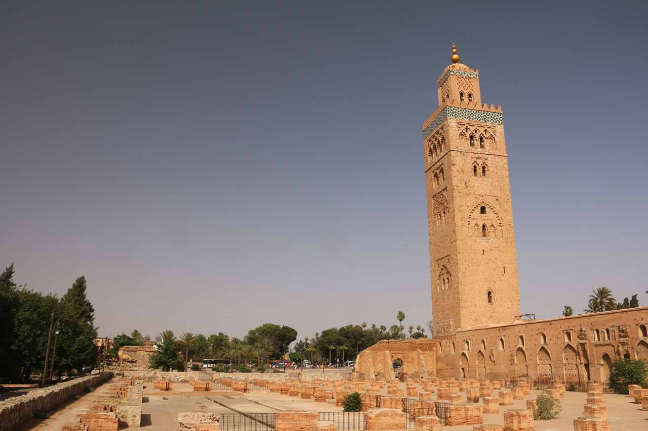 It was about a two-hour drive to get from Marrakech (and its myriad of sights like the Koutoubbia Mosque shown here) to Imi n'Ifri