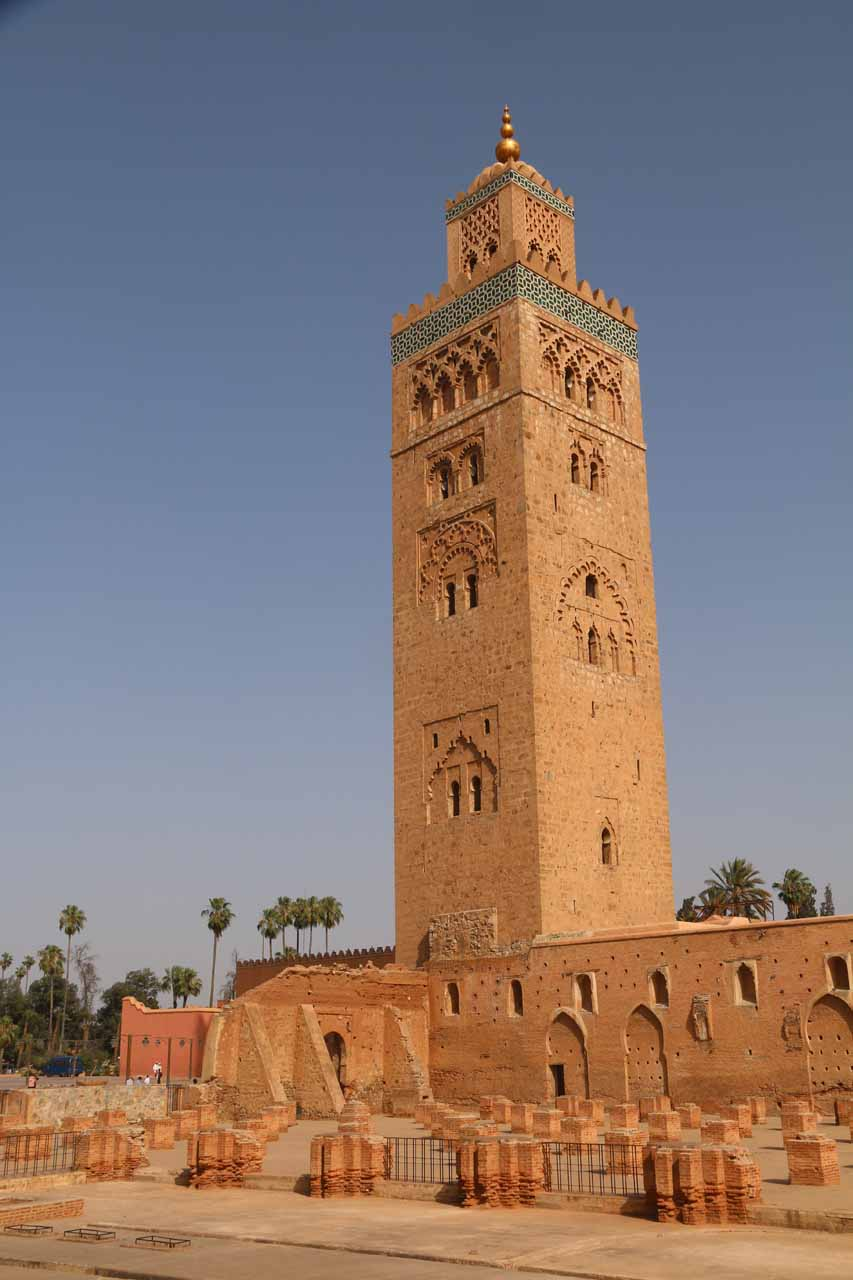 Another look at the tower of the Koutoubia Mosque