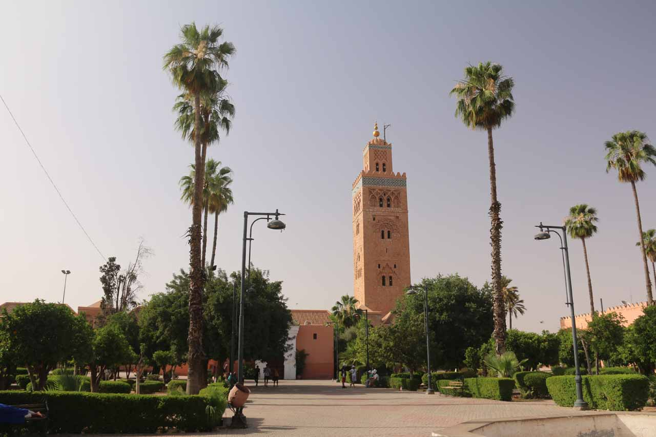 On the other side of the Koutoubia Mosque