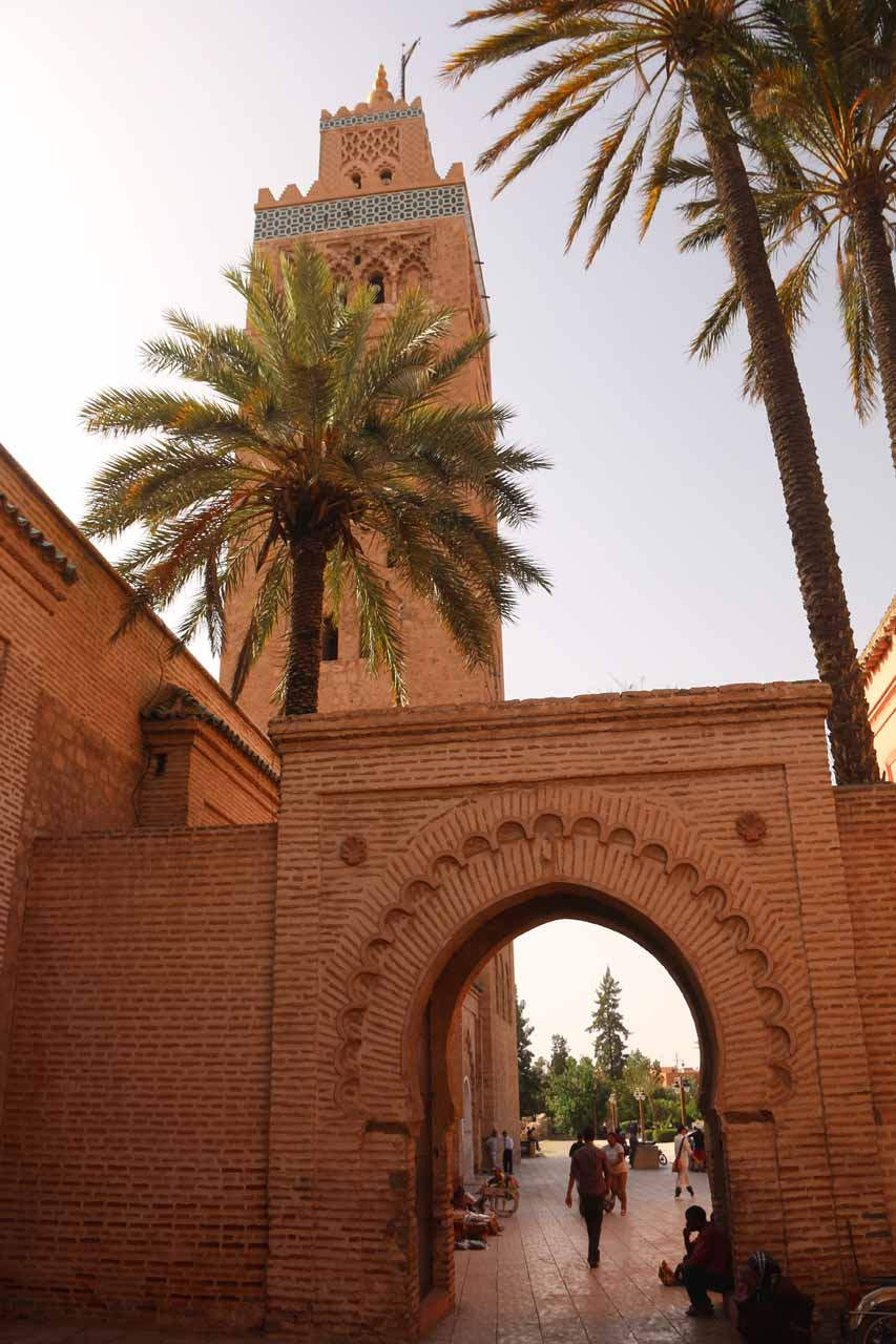 Archway and minaret at the Koutoubia Mosque