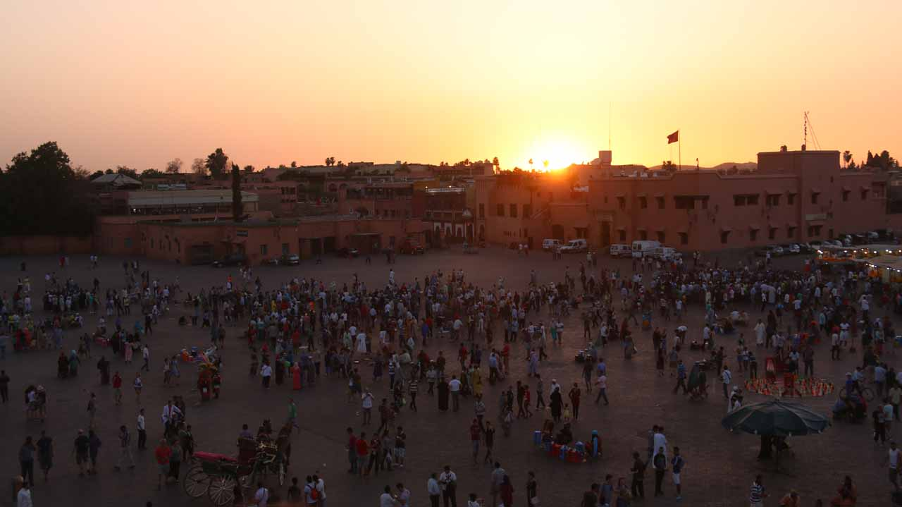 Sunset at the Djemaa el-Fna
