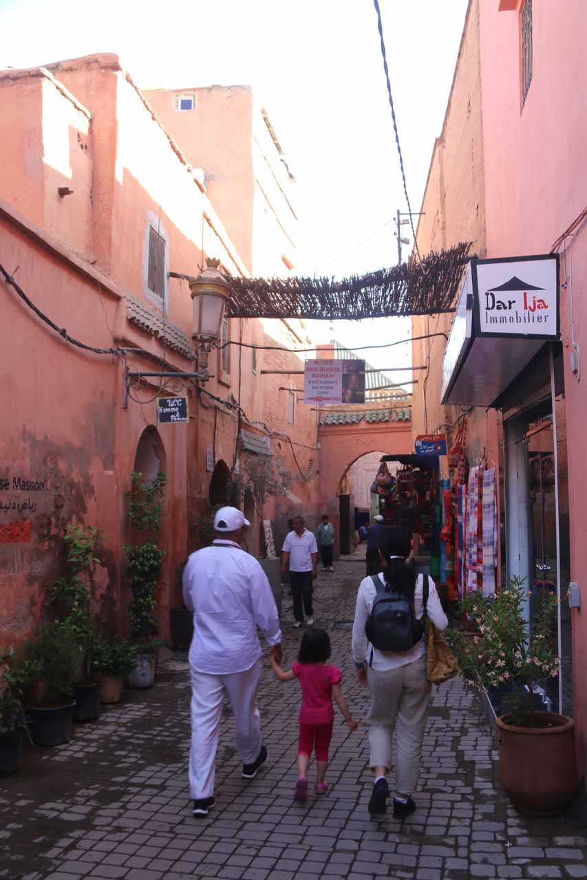 Starting our touring of the medina of Marrakech