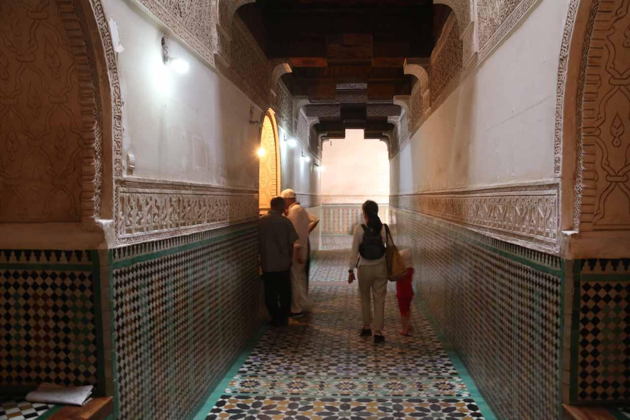 Entering the Ben Youssef Medersa