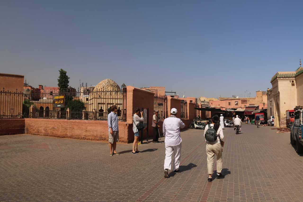 On our way to the traditional souks of Marrakech