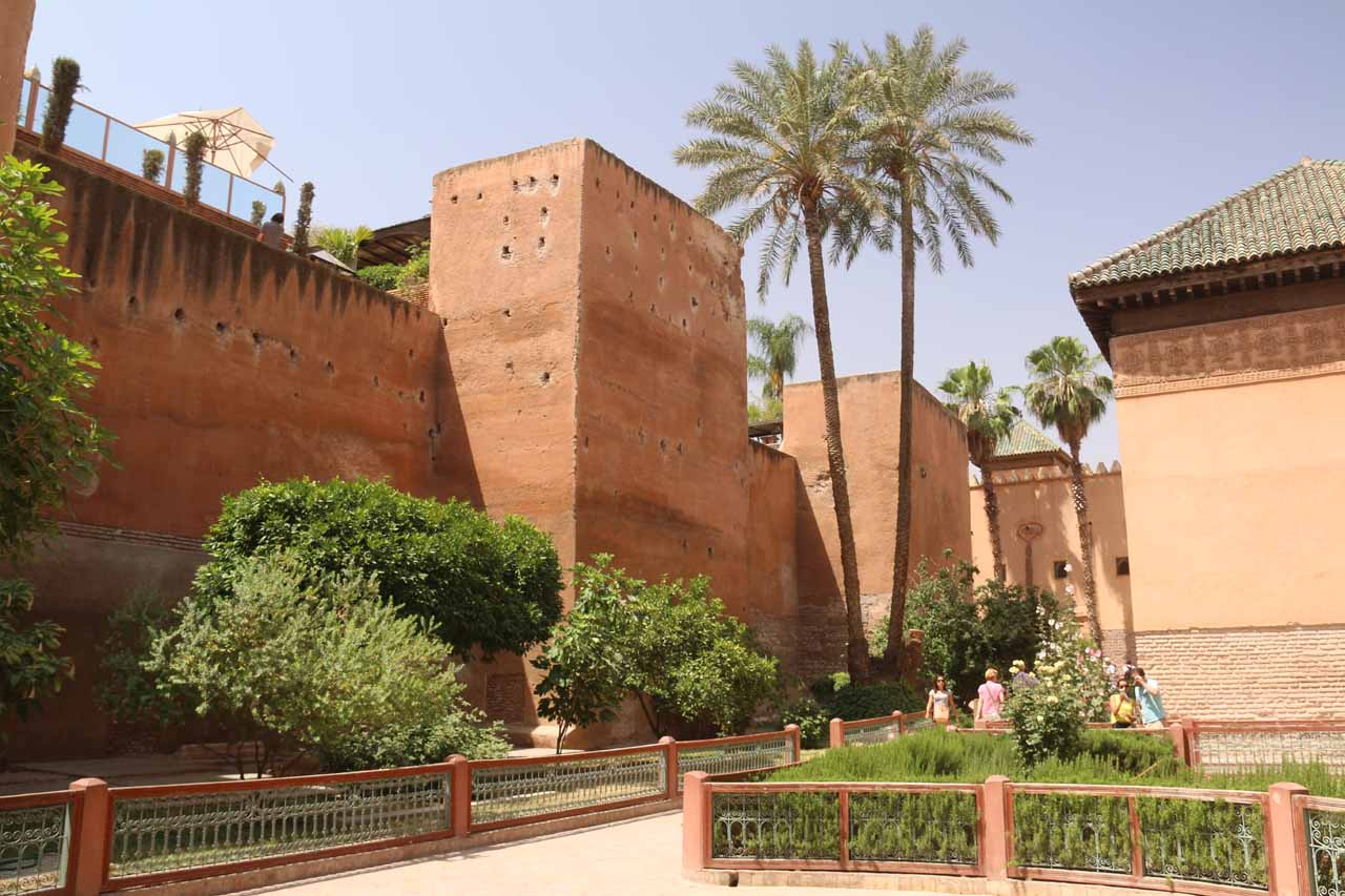 Looking at some old ramparts surrounding the Saadian Tombs