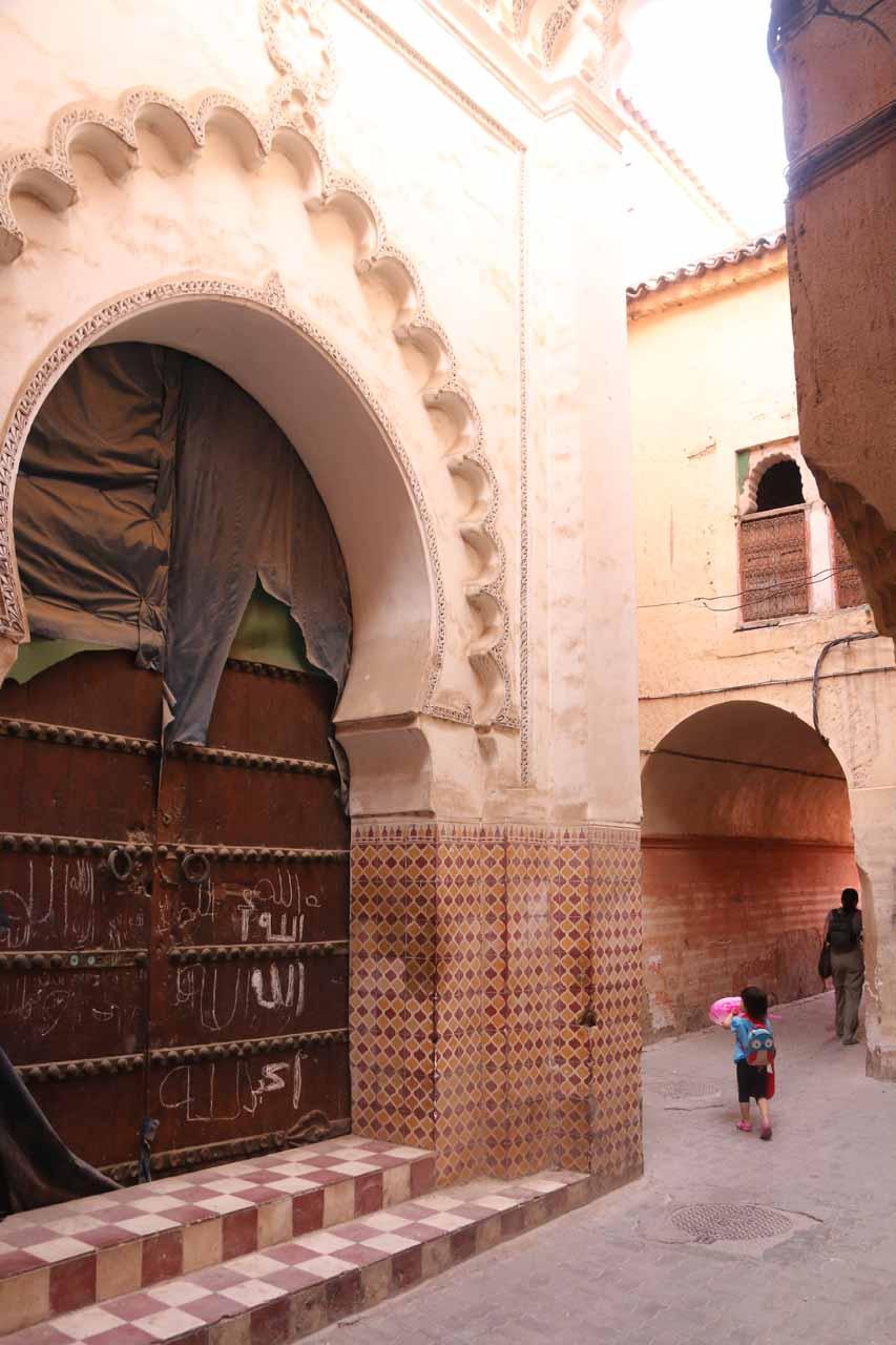 Leaving the medina of Marrakech