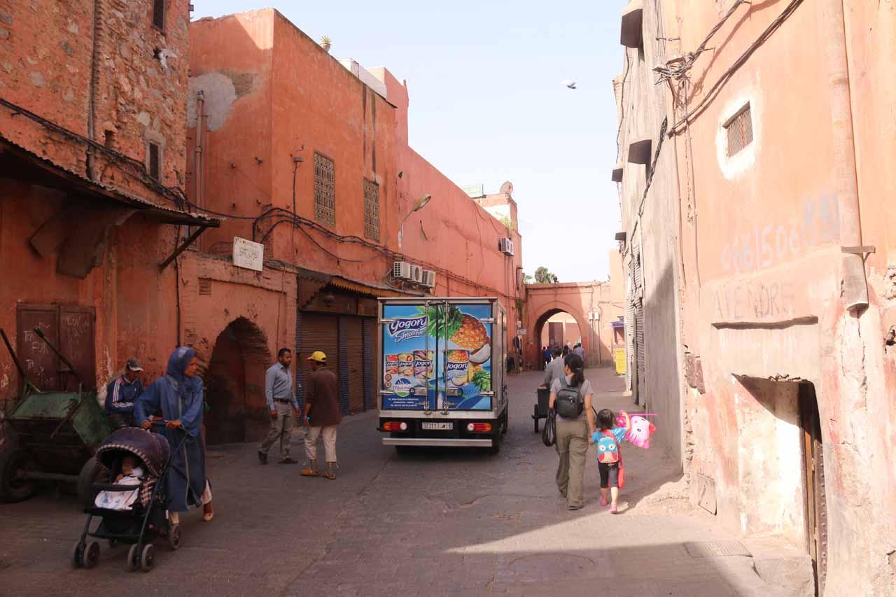 Approaching Bab Masour