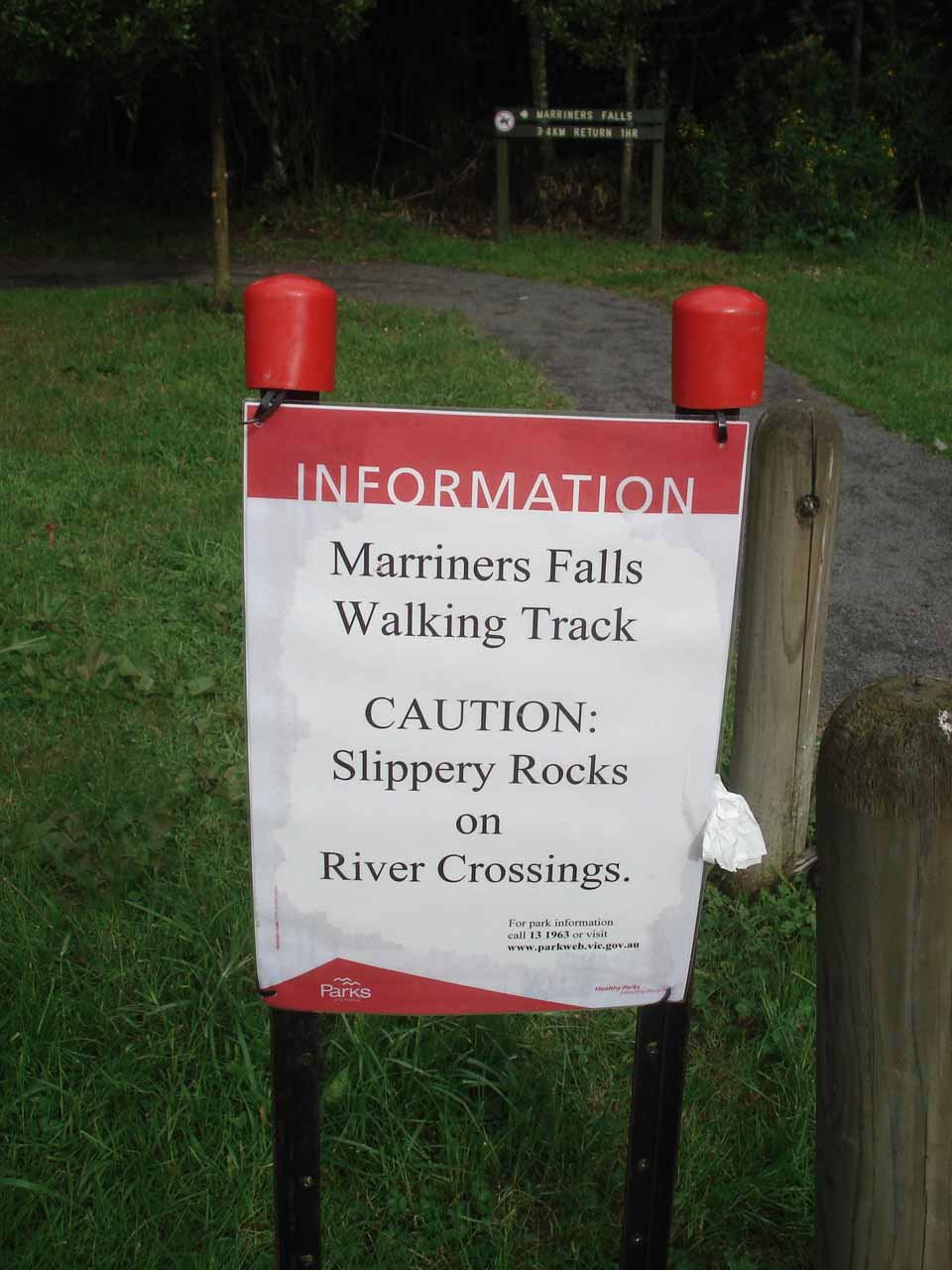 This paper sign was not kidding about the river crossings