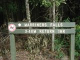 Marriners_Falls_002_jx_11152006 - Sign at the trailhead for Marriners Falls telling us what we were in for