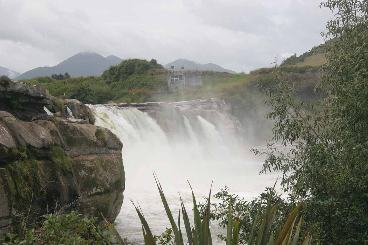 On the way back up to the car park, we got this partial side view of Maruia Falls