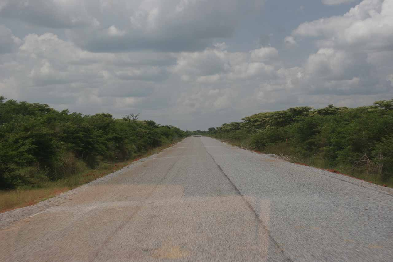 New road south of Masindi