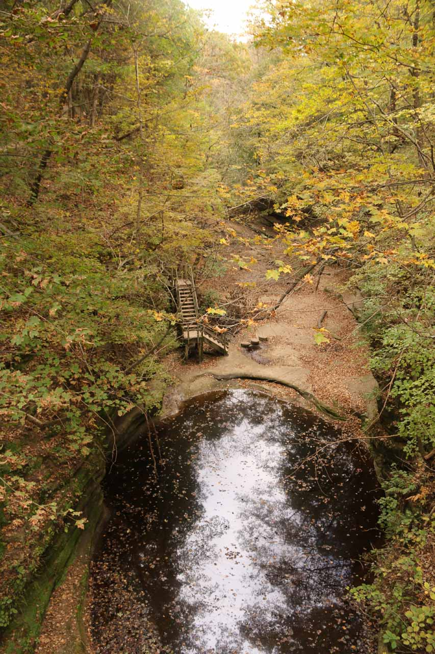 Looking upstream at the Upper Dell from the bridge