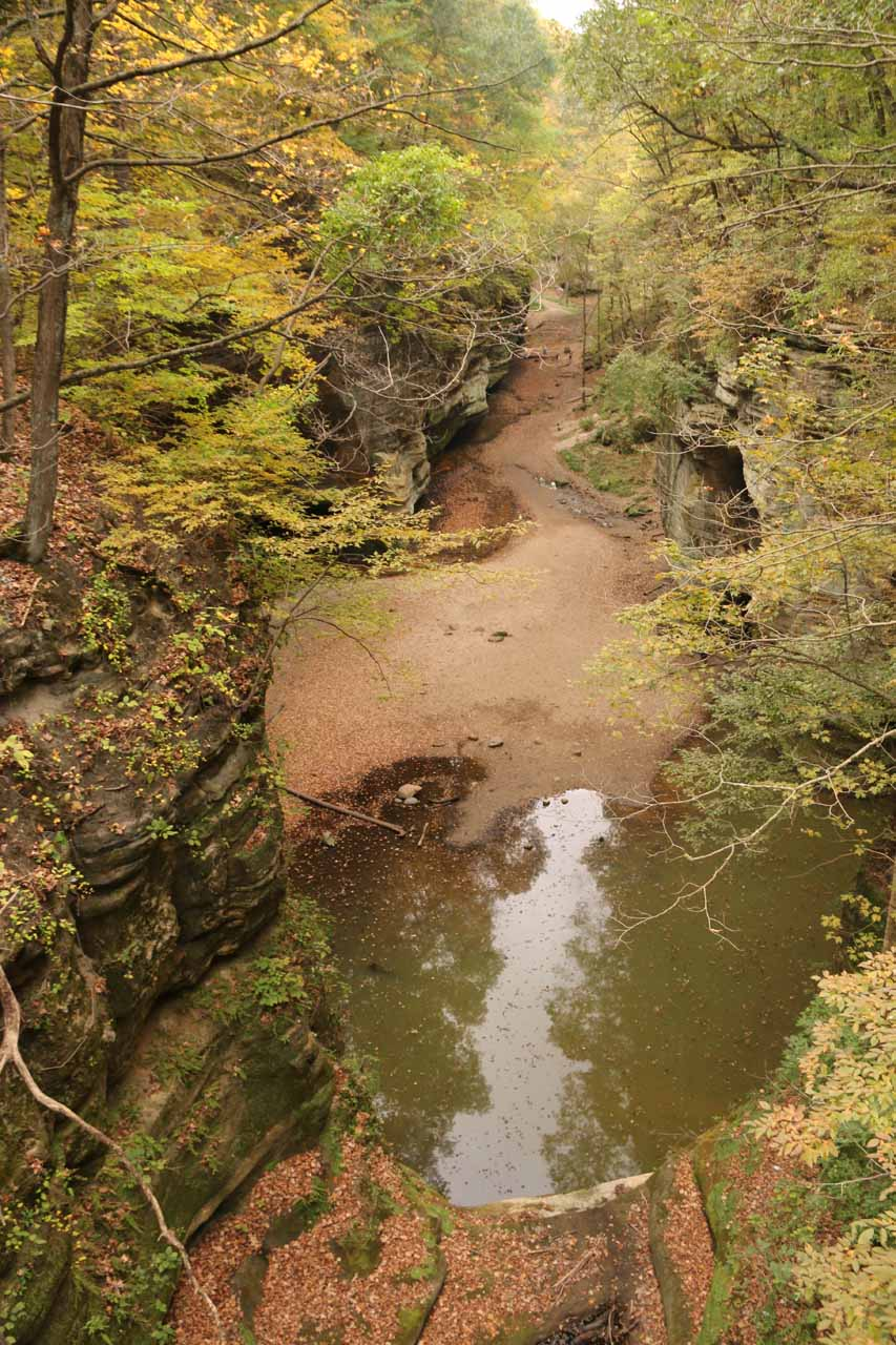Looking downstream above Cascade Falls at the Lower Dells