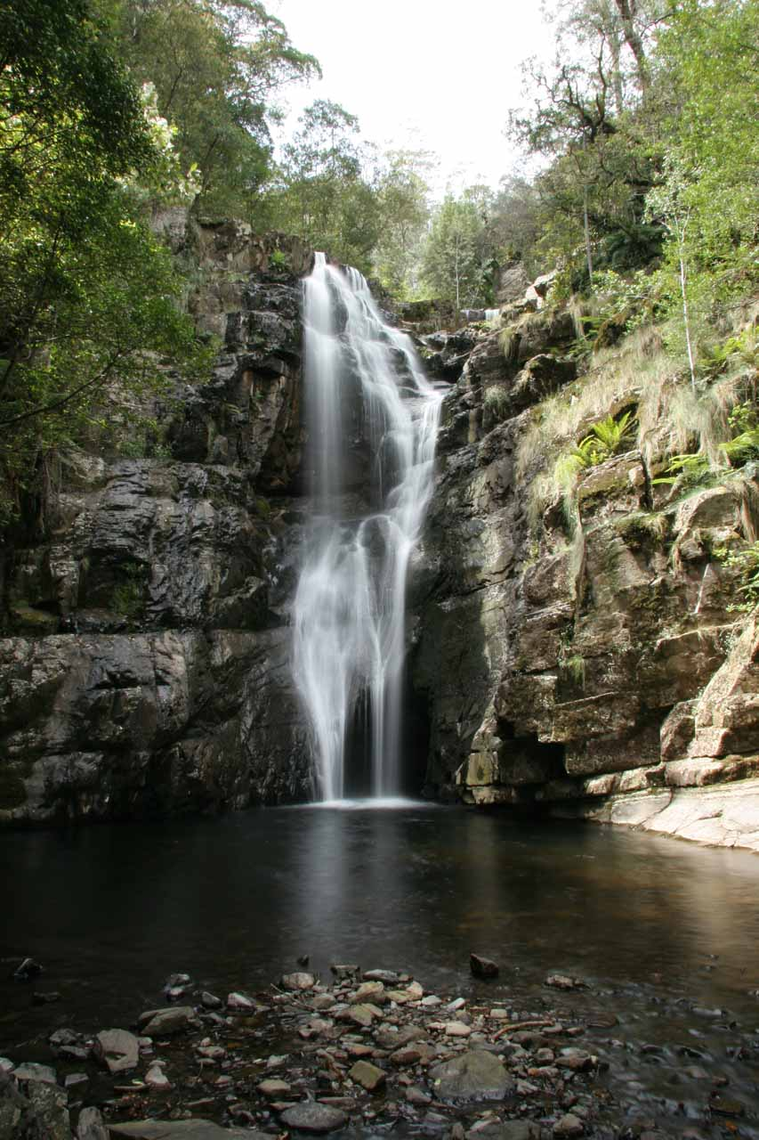Closer look at the impressive Mathinna Falls from its plunge pool