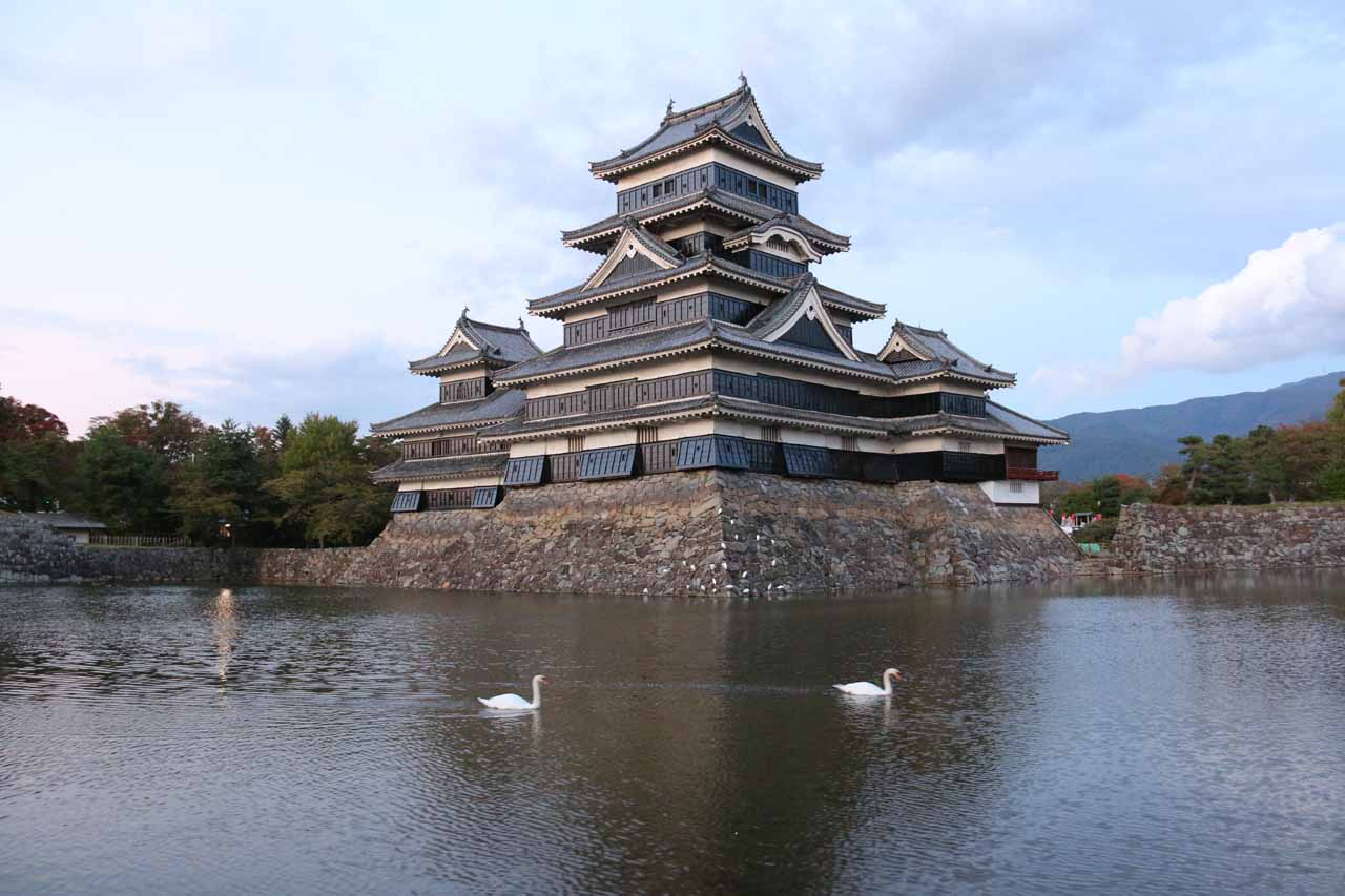 We drove towards the Naena Falls from the city of Matsumoto (where we were staying), which was famous for its castle