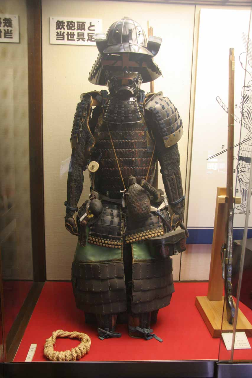 A samurai armor inside the Matsumoto-jo