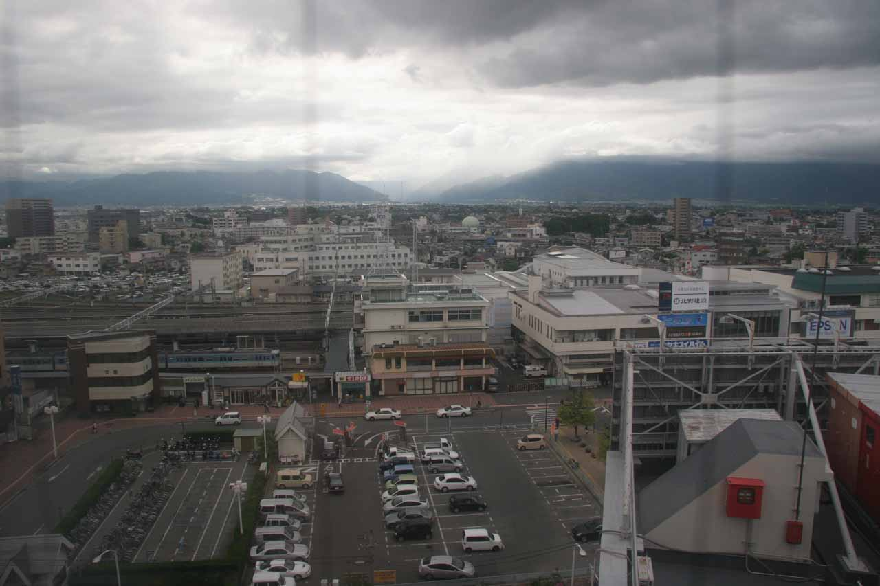 Looking at more dark clouds hovering over Matsumoto