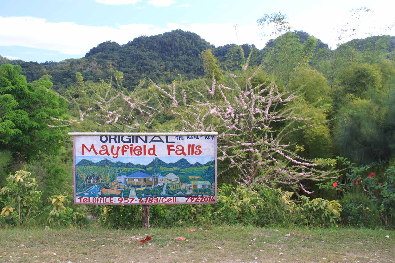 The Original Mayfield Falls sign