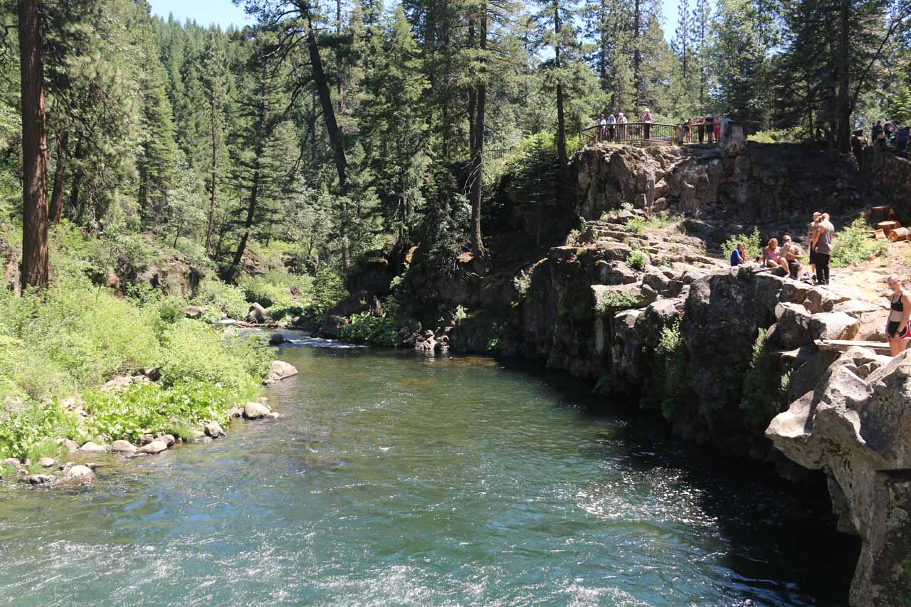 Looking downstream from the brink of Lower McCloud Falls